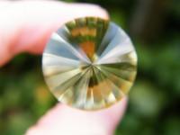 Citrin Vogel Cut Kristall 24-seitig