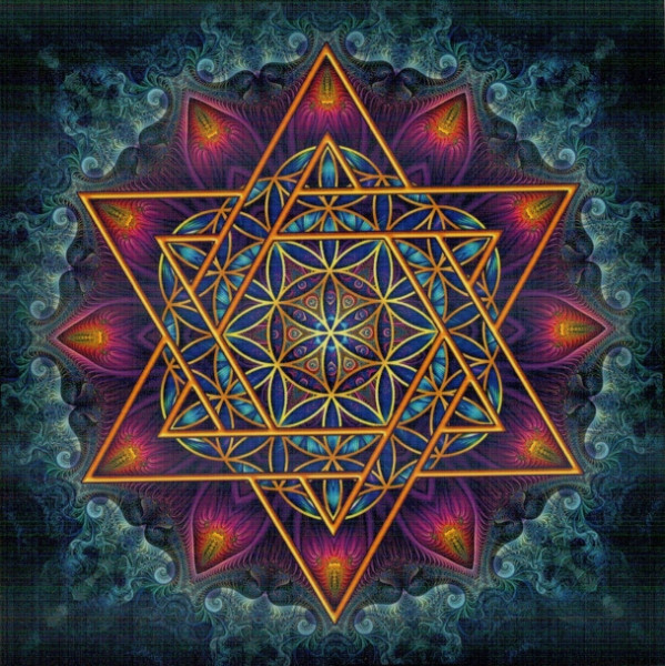 Aufkleber Merkaba- Flower of life