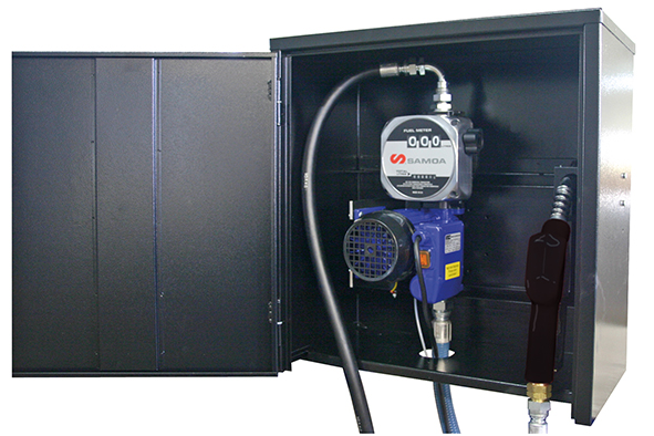 Pumpenschrank mit Dieselmatic plus 60 u. Digital-Durchlaufz.