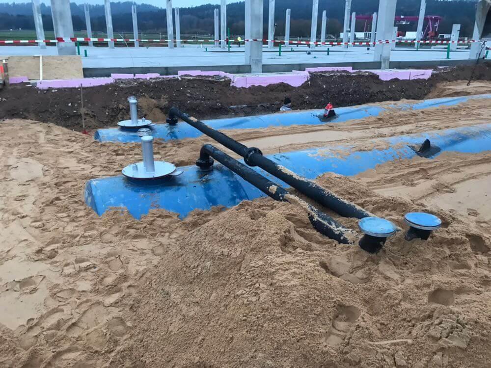 Löschwassertanks 2x100cbm Bild 2