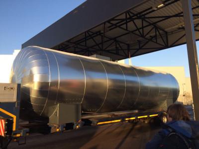 50.000l Löschwassertank Stahltank Wassertank isoliert