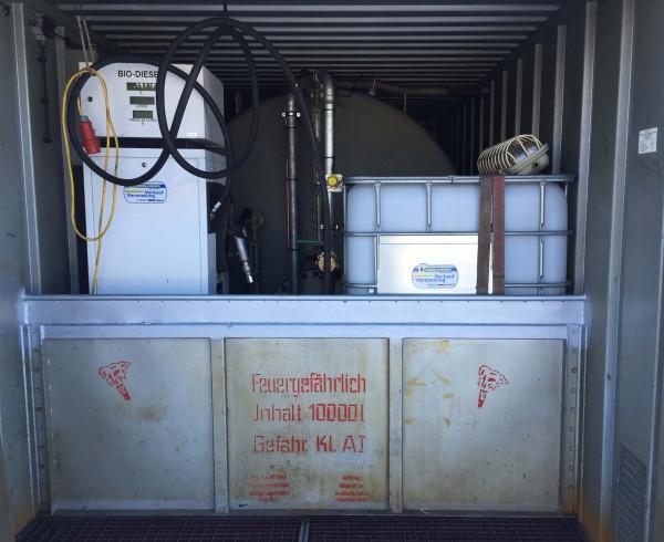 10.000l Dieseltank im 20' Container