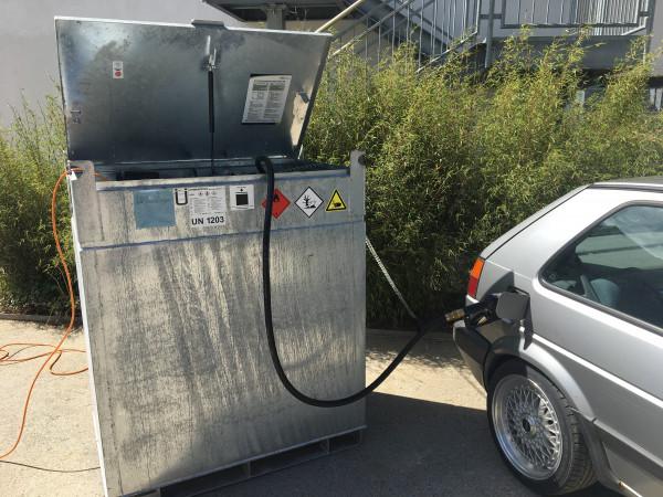 Baustellentank mobil 990l Benzinausführung