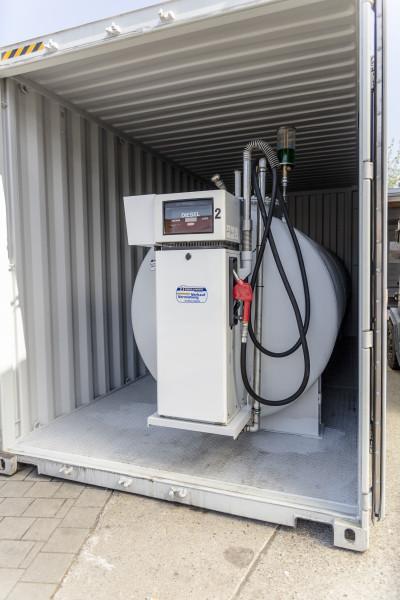 10.000l Dieseltank im Tankcontainer
