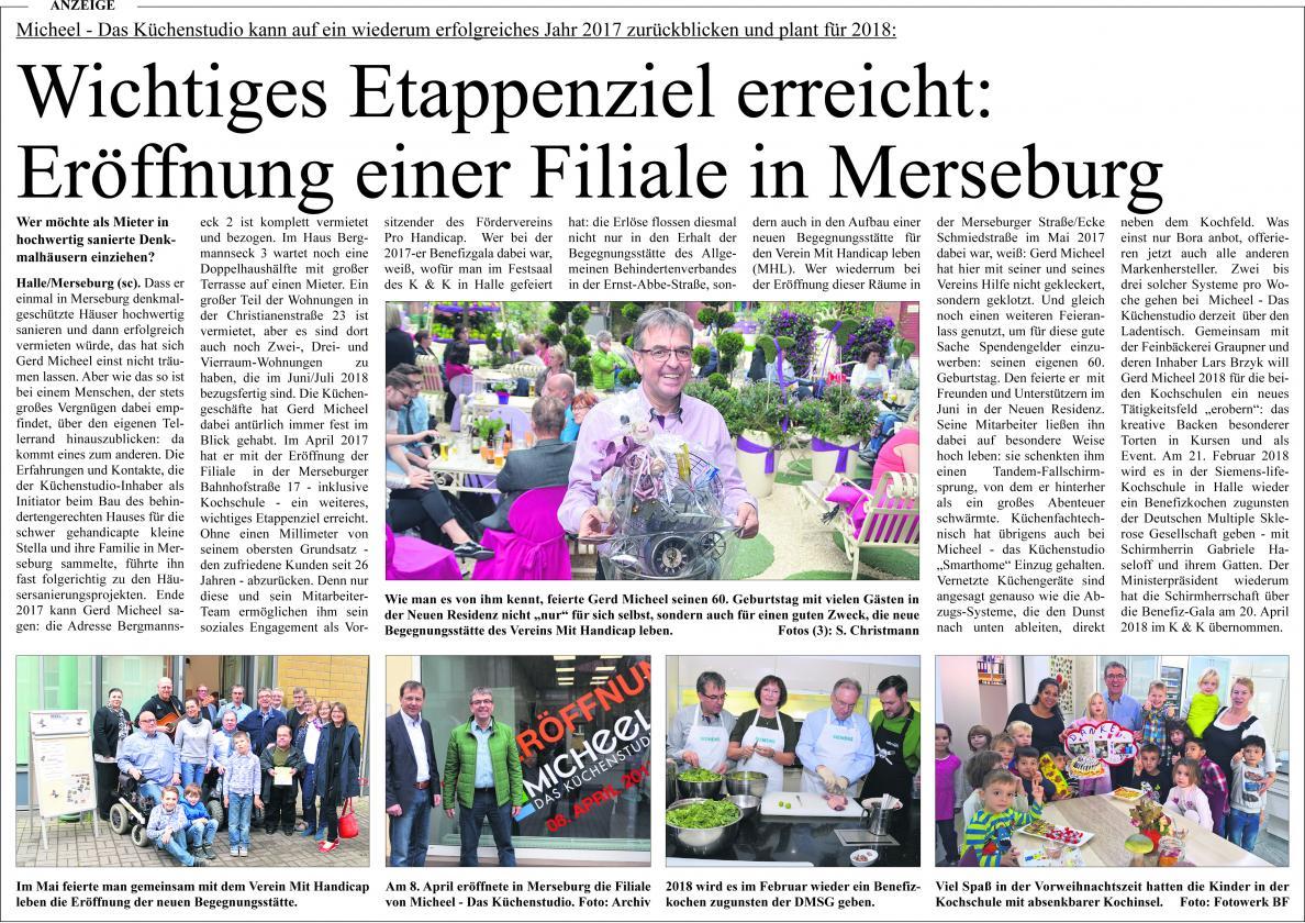 Wichtiges Etappenziel erreicht: Eröffnung einer Filiale in Merseburg