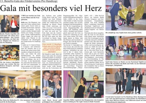 13. Benefiz-Gala des Fördervereins Pro Handicap