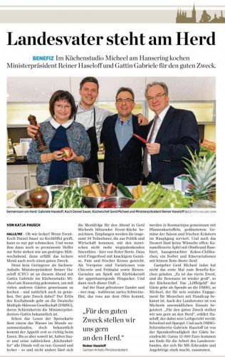Benefizkochen mit Ministerpräsident Reiner Haseloff