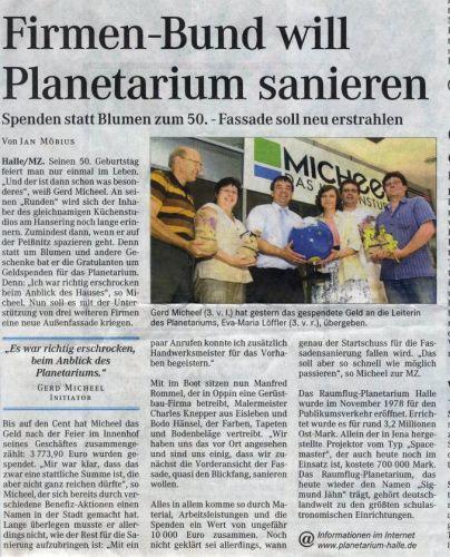 Gerd Micheel´s Fünfzigster Geburtstag + Spendenaktion Planetarium Juni 2007