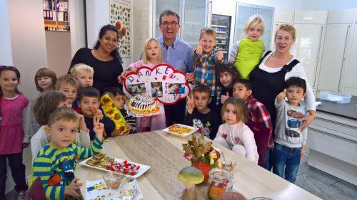 Kita Tabaluga zu Gast in der Kochschule Micheel