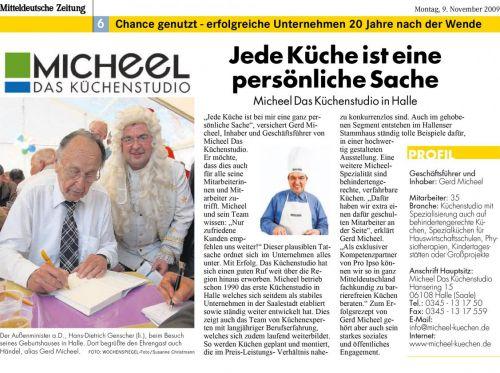 MZ 'Jede Küche ist eine persönliche Sache' November 2009