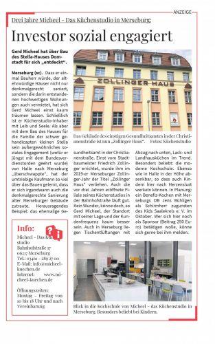 Investor sozial engagiert: Drei Jahre Micheel - Das Küchenstudio in Merseburg