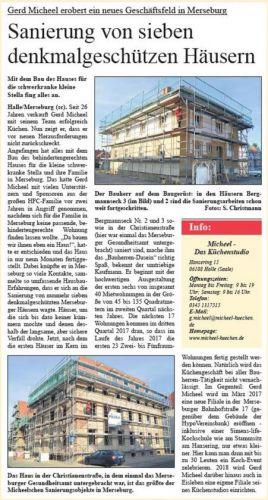 Gerd Micheel erobert neues Geschäftsfeld in Merseburg