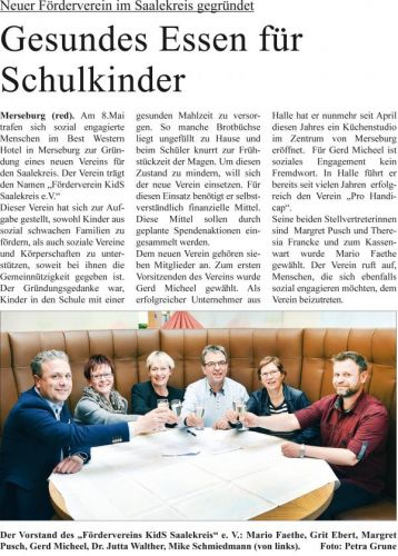 Förderverein Kids Saalekreis e.V. - Gesundes Essen für Schulkinder