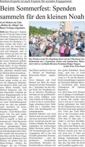 Wochenspiegel Vorankündigung Sommerfest 'Pro Handicap' 2015