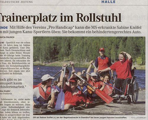 Mitteldeutsche Zeitung - Autoübergabe 'Pro Handicap' Juni 2010