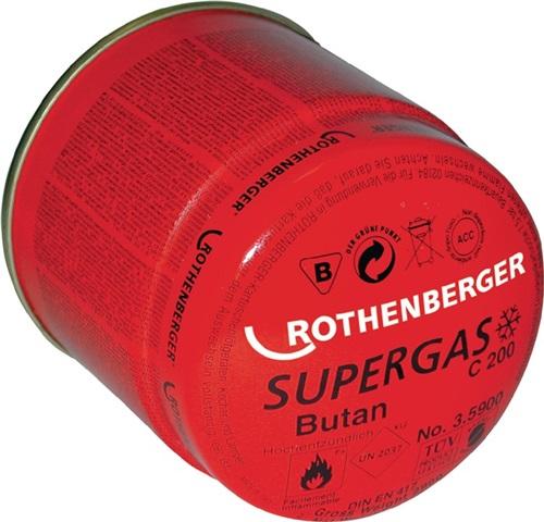 Butan-Anstechkartusche / m.Propananteil nach EN 417Flammtemperatur bis 1800GradC