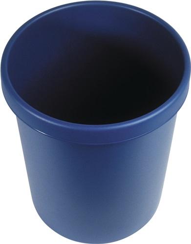 Papierkorb 18l H331xØ315mm m.Griffrand Ku.blau (VPE: 6,00 Stück)