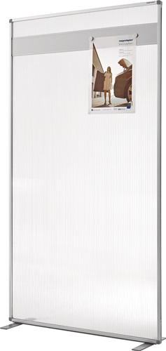 Raumteiler Acryl,m.Magnetleiste tranparent B1000xH1800mm MAGNETOPLAN
