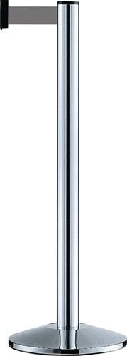 Gurtpfosten 3 Gurtaufnahmen,1 Gurtauszug H1000mm Pfosten blau (VPE: 1,00 Stück)