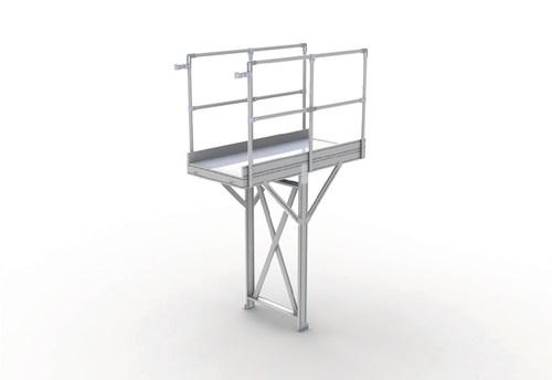 Laufstegmodul L1260xB850xH1250-2499mm Alu-Plattform f.Innenber.exakte H.angeben (VPE: 1,00 Stück)