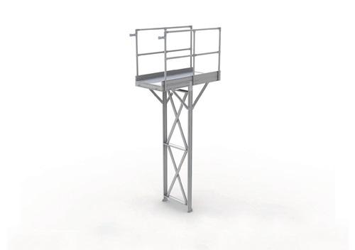 Laufstegmodul L1260xB850xH2500-3000mm Alu-Plattform f.Innenber.exakte H.angeben (VPE: 1,00 Stück)