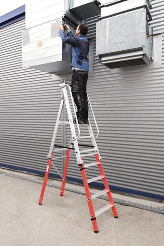 Leitereinsteckteil Leiterverlängerung m.2 Stufen Standfläche o.Ausleger (VPE: 1,00 Stück)