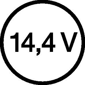 Akkuschlagschrauber GDR 14,4 V-LI 14,4V 4,0Ah 6,3mm (1/4) I-Sechskant hart:150Nm