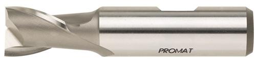Bohrnutenfräser DIN327 D Typ N D.2mm HSS-Co8 Z.2 Einsatz-L.10mm PROMAT