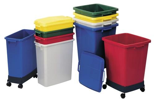 Abfall- u.Wertstoffsammler 90l H600xB485xT510mm PE blau GRAF (VPE: 1,00 Stück)