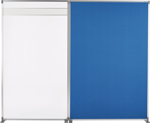 Raumteiler Textilbezug,pinnbar taubenblau B1250xH1700mm MAGNETOPLAN