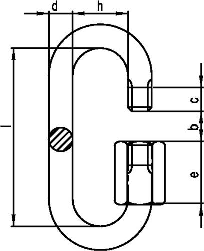 Kettenschnellverschluss (VPE: 100 Stück)