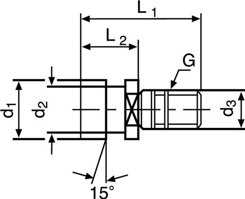 Anzugsbolzen DIN2080 Ott-Ringnut SK40 m.IG PROMAT