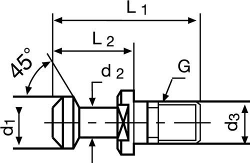 Anzugsbolzen  PROMAT (VPE: 1 Stück)