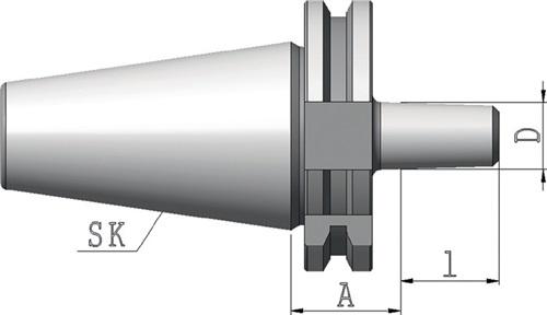 Bohrfutteraufnahme DIN 69871 Form A B16 SK40 Auskrag-L.25mm PROMAT