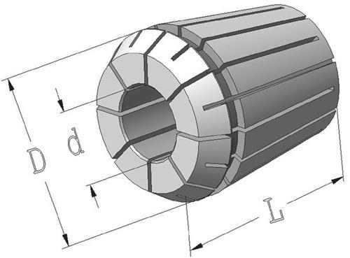 Spannzange Typ ER PROMAT (VPE: 1 Stück)