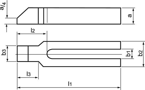 Gabelspanneisen Nr. 6315GN AMF (VPE: 1 Stück)