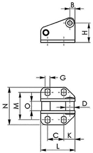 Gegenhalter Nr. 6847G AMF (VPE: 1 Stück)
