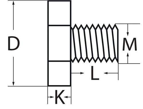 Fräseranzugsschraube  PROMAT (VPE: 1 Stück)