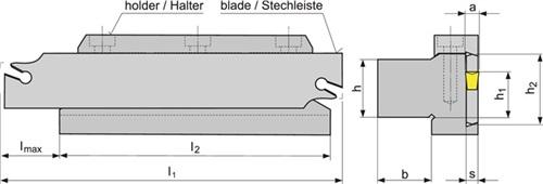 Abstechhalter  PROMAT (VPE: 1 Stück)