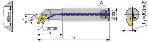 Bohrstange SDQC PROMAT (VPE: 1 Stück)