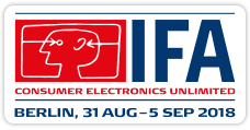 IFA 2018 in Berlin: 31. Aug. - 5. September 2018