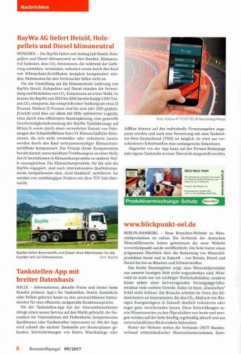 Brennstoffspiegel + Mineralölrundschau 09/2017 :Tankstellen-APP mit breiter Datenbasis