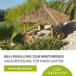 Bambus Pavillons von bali4home.de